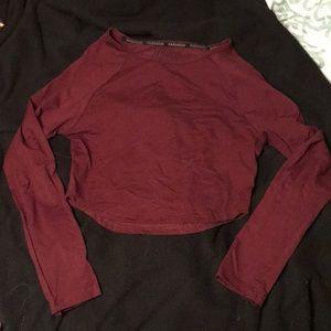 Paragon Fitwear Long Sleeve Crop Top Size MEDIUM